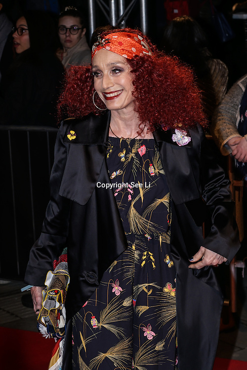 London,England,UK. 21th Fen 2017. Kristin Scott Thomas attends London Fabulous Fund Fair hosted by Natalia Vodianova and Karlie Kloss in support of The Naked Heart Foundation on February 21, 2017 at The Roundhouse in London, England.,UK. by See Li