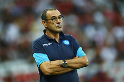August 22, 2017 - Nice, France - Napoli trainer Maurizio Sarri  during the UEFA Champions League Qualifying Play-Offs round, second leg match, between OGC Nice and SSC Napoli at Allianz Riviera Stadium on August 22, 2017 in Nice, France. (Credit Image: © Matteo Ciambelli/NurPhoto via ZUMA Press)