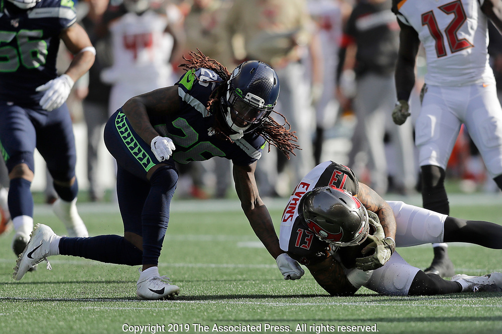 Seattle Seahawks Tampa Bay Buccaneers during the first half of an NFL football game, Sunday, Nov. 3, 2019, in Seattle. (AP Photo/John Froschauer)