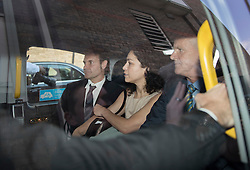 © Licensed to London News Pictures. 06/06/2016. Croydon, UK. Former Chelsea FC team doctor EVA CARNEIRO leaves Croydon Employment Tribunal with her husband JASON DE CARTERET (L) after proceedings were adjourned for the day. Carneiro is claiming constructive dismissal against Chelsea football club when Jose Mourinho was manager. Photo credit: Peter Macdiarmid/LNP