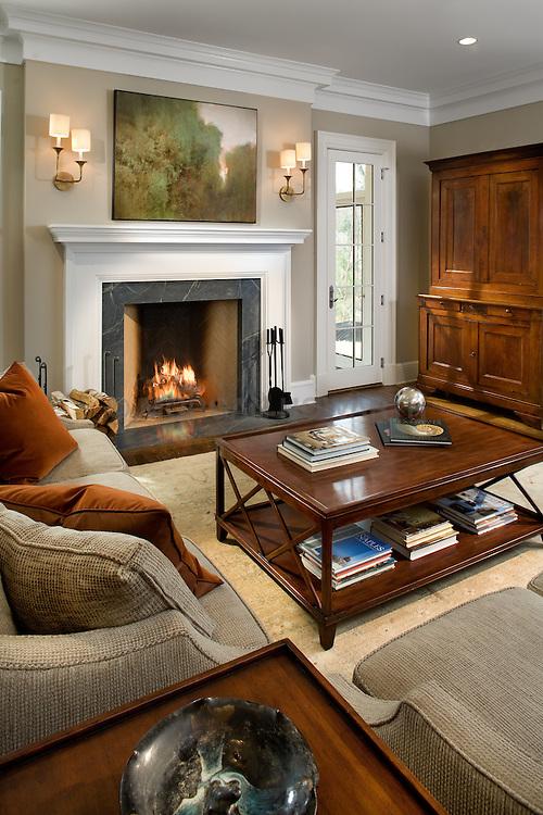 fireplace. 1900 Virginia Ave. McLean, VA contractor JK developement Home Living Room