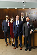 SHOT 1/8/19 12:13:48 PM - Bachus & Schanker LLC lawyers James Olsen, Maaren Johnson, J. Kyle Bachus, Darin Schanker and Andrew Quisenberry in their downtown Denver, Co. offices. The law firm specializes in car accidents, personal injury cases, consumer rights, class action suits and much more. (Photo by Marc Piscotty / © 2018)