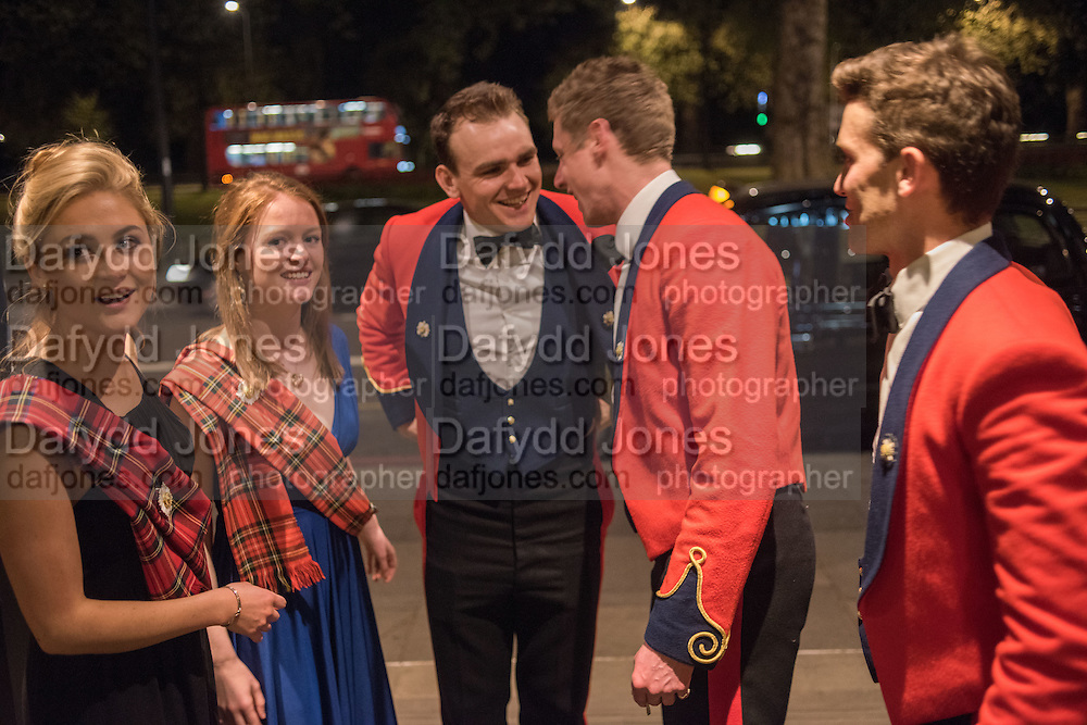 CHARLOTTE CRAVEN; RACHEL PHILLIPS; ARCHIBALD FORREST; JAMES FLEMING; HAMISH MARTIN, The Royal Caledonian Ball 2015. Grosvenor House. Park Lane, London. 1 May 2015.