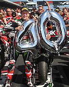 World Superbike Championship. Round 1. Phillip Island. Australia. Sunday 26.2. 2017 WSBK Motorcycle race, Motorrad-Rennen. <br /> #1 Jonathan Rea (GBR) Kawasaki Racing Team wins race 2 and has now <br /> 40 race wins in WSBK.<br />  - fee liable image, copyright © ATP/ Damir IVKA