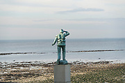 """The statue of the lifeboatman looking out to sea at the Nayland Rock is one of Margate's enduring landmarks. It commemorates the tragic capsize of the lifeboat Friend To All Nations in December 1897, with the loss of nine lives<br /><br />Margate is a seaside town in Thanet, Kent, England. The town's history is tied closely to the sea and it has a proud maritime tradition. Margate was a """"limb"""" of Dover in the ancient confederation of the Cinque ports. Recent links with conservative and UKIP candidates. Strong local support for Nigel Farage and a very strong Brexit vote."""