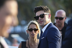 """Zac Efron arrives to the """"Baywatch"""" movie world premiere's beach party and red carpet event on Saturday, May 13, 2017 in Miami Beach, FL, USA. Photo by Matias J. Ocner/Miami Herald/TNS/ABACAPRESS.COM"""