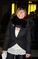 Fashion writer HILARY ALEXANDER at the 2004 British Fashion Awards held at Thhe V&A museum, London on 2nd November 2004.<br />