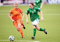 Fotball , 24. juli 2014 , U19 Women , Netherlands - Ireland<br /> Nederland - Irland<br /> <br /> Danique Kerkdijk , NED<br /> Amy O' Connor , IRL