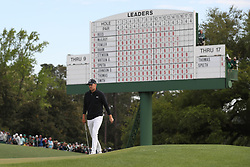 April 8, 2018 - Augusta, GA, USA - Jordan Spieth approaches the 18th green where he bogied to fall to 13 under for the round  during the final round of the Masters at Augusta National Golf Club on Sunday, April 8, 2018, in Augusta, Ga. (Credit Image: © Jason Getz/TNS via ZUMA Wire)