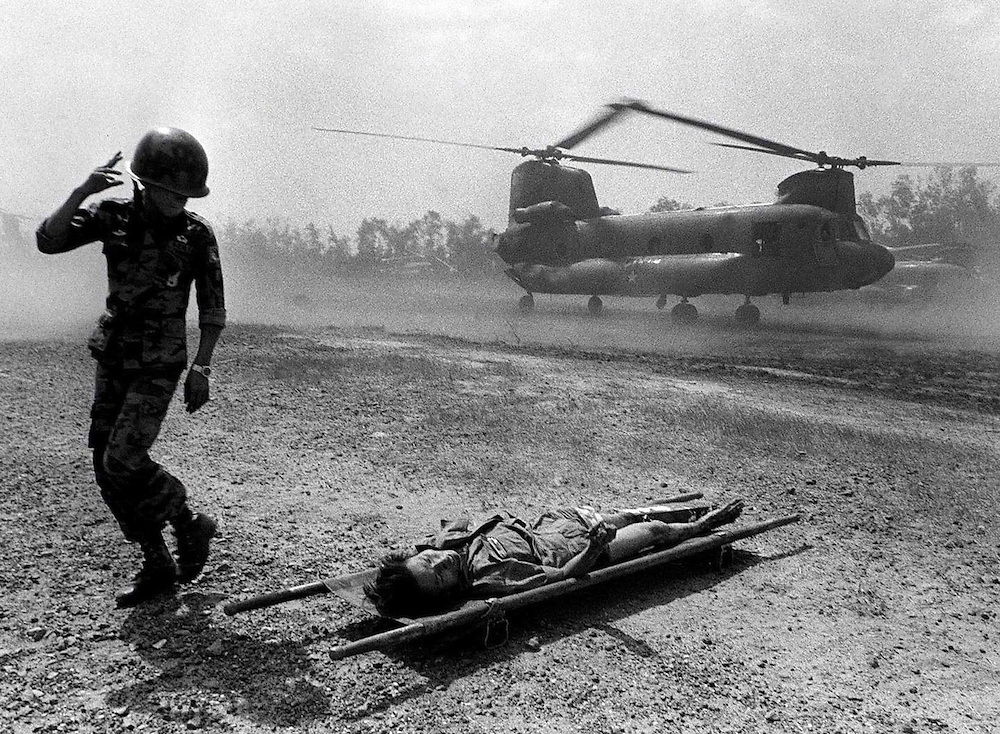 Casualty of war. Xuan Loc, Vietnam.1975. Photograph by Terry Fincher