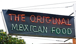 Signs for The Original, mexican food restaurant, Fort Worth Texas, USA.