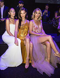Lily Aldridge, Bella Hadid, Jasmine Sanders attend the fashion show during Bvgalri Gala Dinner held at the Stadio dei Marmi in Rome, Italy on June 28, 2018. Photo by Marco Piovanotto/ABACAPRESS.COM