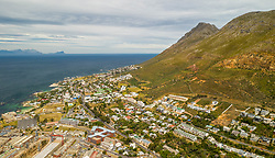 April 17, 2020: Aerial view of Simon's Town, South Africa. (Credit Image: © Amazing Aerial via ZUMA Wire)