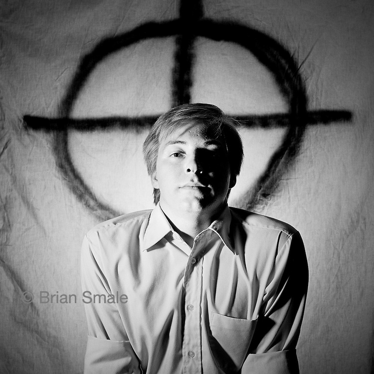 John Metzger, son of Tom Metzger, of the White Aryan Resistance.  (W.A.R.) Photographed by Brian Smale for Rolling Stone Magazine.