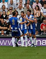 Photo: Steve Bond.<br />Derby County v RCD Espanyol. Pre Season Friendly. 04/08/2007. Luis Garcia (C) celebrates scoring from the penalty spot