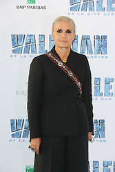 Maria Grazia Chiuri attending Valerian premiere at Cite du Cinema in Paris, France on July 25, 2017. Photo by Jerome Domine/ABACAPRESS.COM