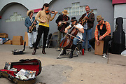 The Molehill Orkestrah in concert at the 4th Avenue Street Fair in Tucson, Arizona.