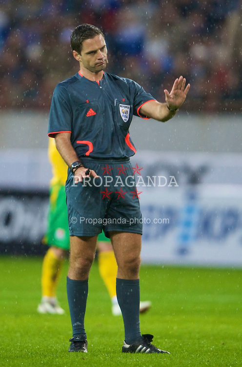 MOSCOW, RUSSIA - Wednesday, September 10, 2008: referee Damir Skomina takes charge of the second 2010 FIFA World Cup South Africa Qualifying Group 4 match between Russia and Wales at the Lokomotiv Stadium. (Photo by David Rawcliffe/Propaganda)