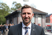 Fuusball: 2. Bundesliga, FC St. Pauli - Hamburger SV 2:0, Hamburg, 16.09.2019<br /> Fanmarsch der HSV-Fans: Timo Zill (Pressesprecher Polizei Hamburg)<br /> © Torsten Helmke