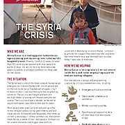 """Mercy Corps brief, """"The Syria Crisis,"""" 2014."""