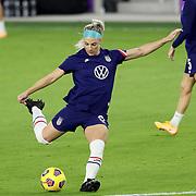 ORLANDO, FL - JANUARY 22:  Julie Ertz #8 of United States plays against Colombia at Exploria Stadium on January 22, 2021 in Orlando, Florida. (Photo by Alex Menendez/Getty Images) *** Local Caption *** Julie Ertz