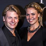 NLD/Amsterdam/20150211 - Premiere Fifty Shades of Grey, Thomas Berge en partner Myrthe Mylius