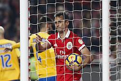 December 9, 2017 - Lisbon, Portugal - Benfica's forward Jonas celebrates his goal  during Primeira Liga 2017/18 match between SL Benfica vs GD Estoril Praia, in Lisbon, on December 9, 2017. (Credit Image: © Carlos Palma/NurPhoto via ZUMA Press)