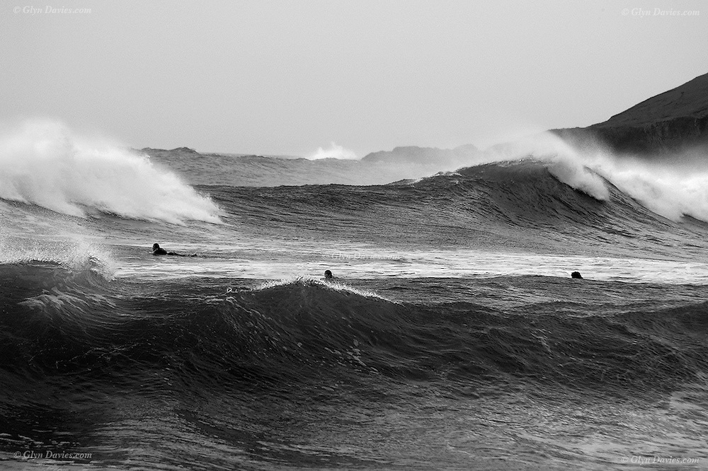 Porth Oer / Whistling Sands in incredible storm conditions<br /> <br /> Available as unlimited A3 & A4 prints only