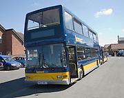 Double decker Konect bus in East Dereham, Norfolk, England