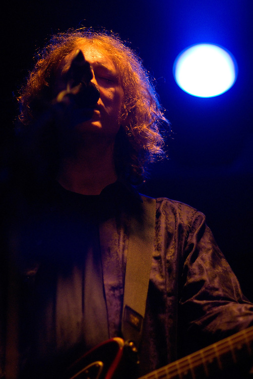 My Bloody Valentine [Kevin Shields pictured] performing live at All Tomorrow's Parties at Butlins in Minehead. 4th to 6th December 2009.
