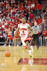 """08 December 2007: Keith """"Boo"""" Richardson. The Cincinnati Bearcats take a loose against the Illinois State Redbirds 62-52 on Doug Collins Court in Redbird Arena on the campus of Illinois State University in Normal Illinois."""