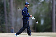 WILMINGTON, NC - MARCH 19: North Carolina's Henry Do tees off on the Ocean Course ninth hole. The first round of the 2017 Seahawk Intercollegiate Men's Golf Tournament was held on March 19, 2017, at the Country Club of Landover Nicklaus Course in Wilmington, NC.