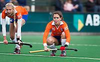 BLOEMENDAAL - Pien Tol van Bloemendaal tijdens de overgangsklasse competitiewedstrijd hockey tussen de vrouwen van Bloemendaal en Zwolle (2-0). COPYRIGHT KOEN SUYK