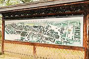 China, Zhejiang Province, Wuzhen map of the village