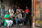 Spontaneous portrait of a family business in the industrial zone of Jaipur's Pink City