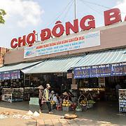 Main entrance to Cho Dong Ba, the main city market in Hue, Vietnam.
