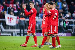 23.02.2019, Allianz Arena, Muenchen, GER, 1. FBL, FC Bayern Muenchen vs Hertha BSC, 23. Runde, im Bild v.li. Robert Lewandowski (FC Bayern Muenchen) und Serge Gnabry (FC Bayern Muenchen) Schlussjubel // during the German Bundesliga 23th round match between FC Bayern Muenchen and Hertha BSC at the Allianz Arena in Muenchen, Germany on 2019/02/23. EXPA Pictures © 2019, PhotoCredit: EXPA/ Eibner-Pressefoto/ Tom Weller<br /> <br /> *****ATTENTION - OUT of GER*****