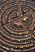 Aerial image of a densely populated housing development, Sun City, Arizona, American Southwest by Randy Wells