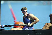 Sydney. AUSTRALIA. 2000 Summer Olympic Regatta, Penrith. NSW.  <br /> <br /> USA M8+. <br /> AHRENS, Christian, <br /> <br /> [Mandatory Credit Peter SPURRIER/ Intersport Images] Sydney International Regatta Centre (SIRC) 2000 Olympic Rowing Regatta00085138.tif