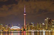 60912-00213 City Skyline at dusk Toronto, ON Canada