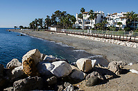 Mediterranean coastline between Puerto Banus and San Pedro de Alcantara, Marbella, Spain, October, 2017, 201710184730<br /><br />Copyright Image from Victor Patterson, 54 Dorchester Park, Belfast, UK, BT9 6RJ<br /><br />t1: +44 28 9066 1296 (from Rep of Ireland 048 9066 1296)<br />t2: +44 28 9002 2446 (from Rep of Ireland 048 9002 2446)<br />m: +44 7802 353836<br /><br />e1: victorpatterson@me.com<br />e2: victorpatterson@gmail.com<br /><br />The use of any of my copyright images is subject to my Terms & Conditions. It is IMPORTANT that you familiarise yourself with them. They are available at my website, victorpatterson.com.<br /><br />None of my copyright images may be used on the Internet unless they are visibly watermarked, i.e. © Victor Patterson within the body of the image. My metadata, denoting my copyright must NOT be deleted. <br /><br />Web use is extra at currently recommended NUJ rates. Maximum permitted web size is<br /> 400kb. <br /><br />Images must not be passed on to a third party - they are for the use of the authorised recipient only.