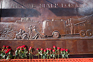 A memorial to the 343 firemen who lost their lives on 9/11  near ground zero in New York City was unveiled on June 10th, 2006. <br /> New York City has heightened security  as the 10th anniversary of the 9/11 World Trade Center approaches.