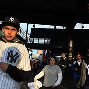 Fans arrive at Yankee Stadium during the New York Yankees V Baltimore Orioles Baseball game at Yankee Stadium, The Bronx, New York. 30th April 2012. Photo Tim Clayton