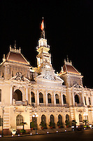 Beautiful gothic, French colonial architecture in Saigon.