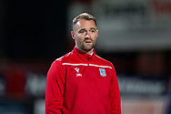 06/10/2020: Dundee FC train at Kilmac Stadium after their Betfred Cup match against Forfar Athletic was postponed due to a positive COVID test result for one of the Forfar players: Dundee manager James McPake <br /> <br /> <br />  :©David Young: davidyoungphoto@gmail.com: www.davidyoungphoto.co.uk