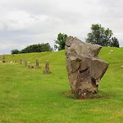 Neolithic Stones, Henge And Grazing Sheep - Avebury, UK