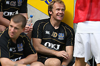 Photo: Pete Lorence.<br />Leicester City v Portsmouth. Pre Season Friendly. 04/08/2007.<br />Canterbury sponsorship on Portsmouth's team kit.