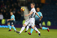 Chris Brunt of West Bromwich Albion in action.Premier league match, West Bromwich Albion v Swansea city at the Hawthorns stadium in West Bromwich, Midlands on Wednesday 14th December 2016. pic by Andrew Orchard, Andrew Orchard sports photography.
