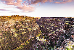 Bruneau Canyon Sunrise. Bruneau Canyon is a little know chasm in Southeast Idaho near Mountain Home.