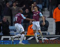 Photo: Olly Greenwood.<br />West Ham United v Tottenham Hotspur. The Barclays Premiership. 04/03/2007. West Ham's Mark Noble celebrates scoring